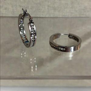 Earrings stainless steel hoops